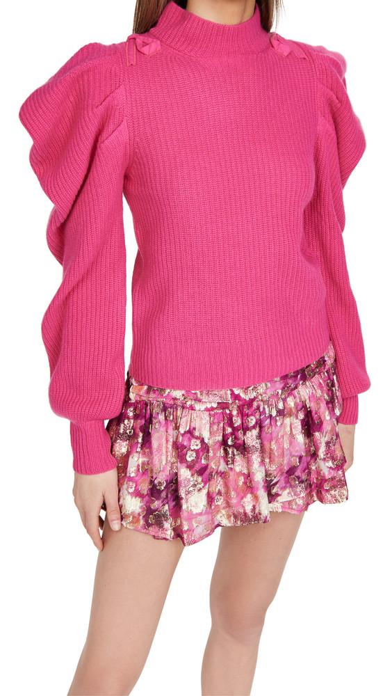 LOVESHACKFANCY Potter Cashmere Pullover in pink