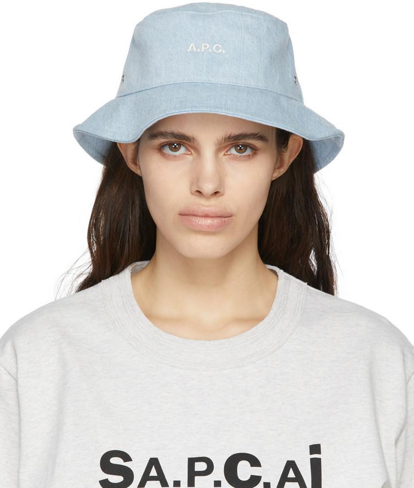 A.P.C. A.P.C. Blue Denim Alex Bucket Hat