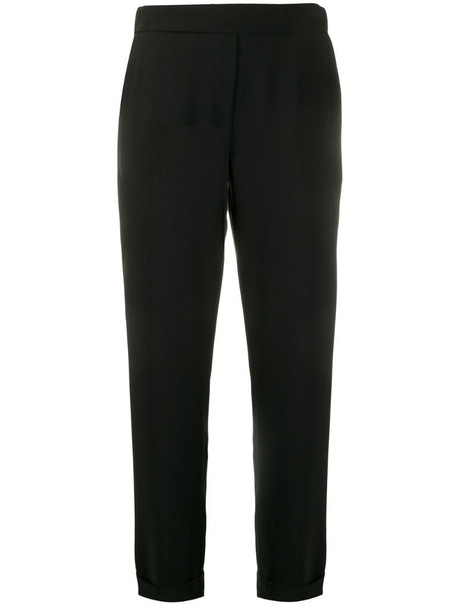 P.A.R.O.S.H. slim-fit tailored trousers in black