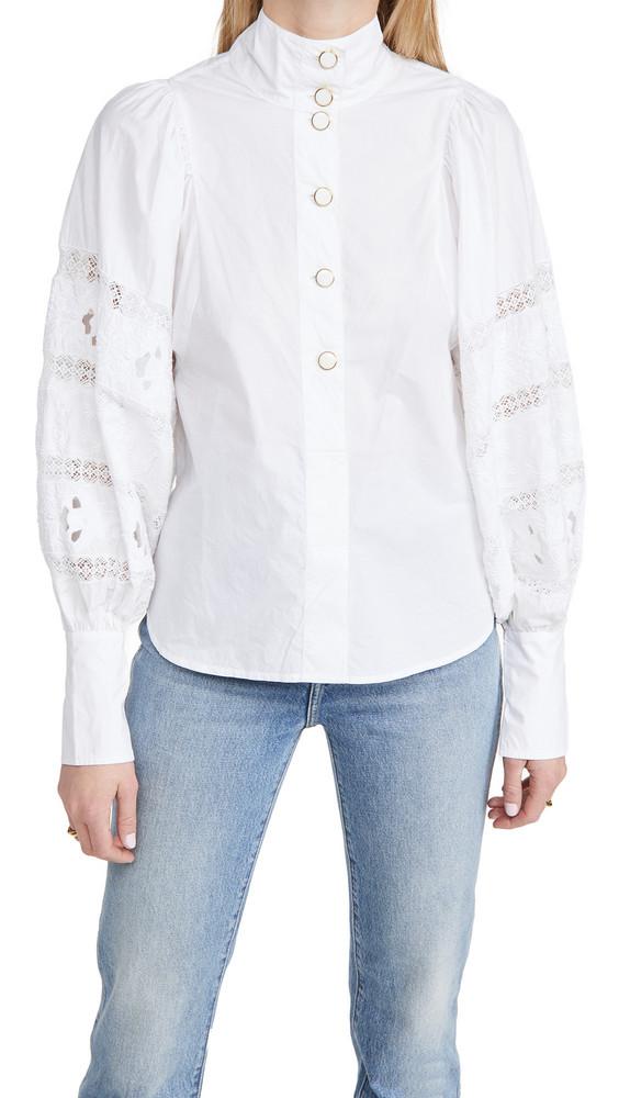 Essentiel Antwerp Witching Balloon Sleeves Shirt in white