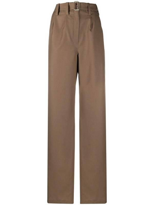 Lemaire high-rise wide leg trousers in brown
