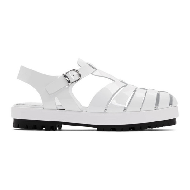Maison Margiela White Linin Strappy Sandals