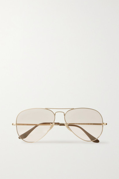 Ray-Ban - Aviator Gold-tone Sunglasses