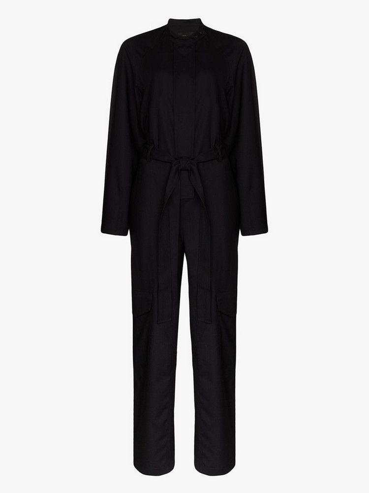 Low Classic Snap wool jumpsuit in blue
