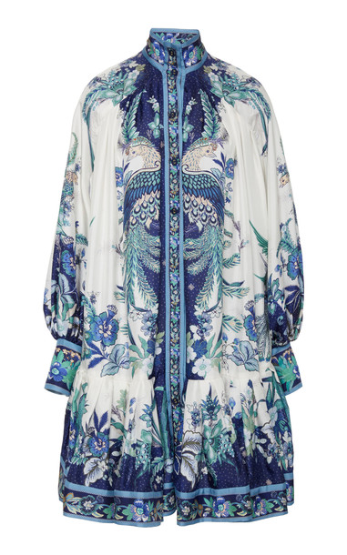 Zimmermann Glassy Placement Mini Dress Size: 0 in navy