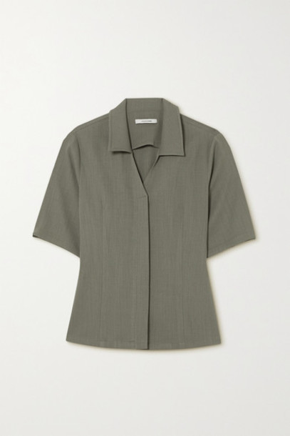 LE 17 SEPTEMBRE - Crepe Shirt - Gray