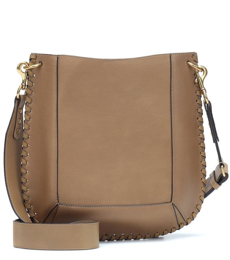 Isabel Marant Oskan leather shoulder bag in beige