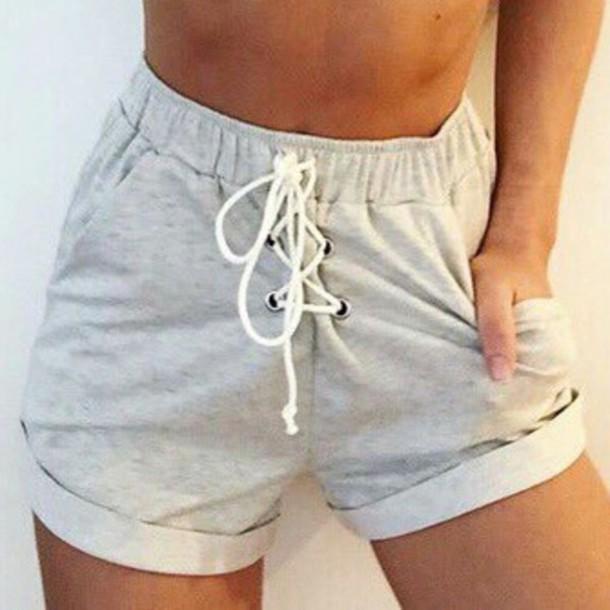 shorts grey High waisted shorts