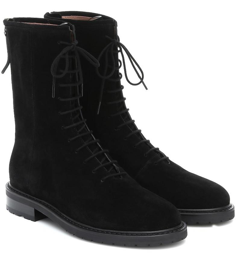 Legres Suede combat boots in black