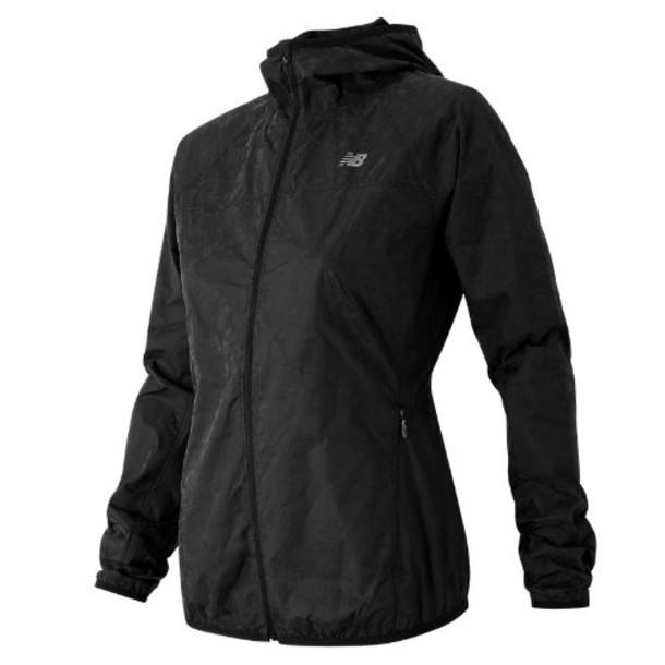 New Balance 61139 Women's Reflective Windcheater Jacket - Black (WJ61139BK)