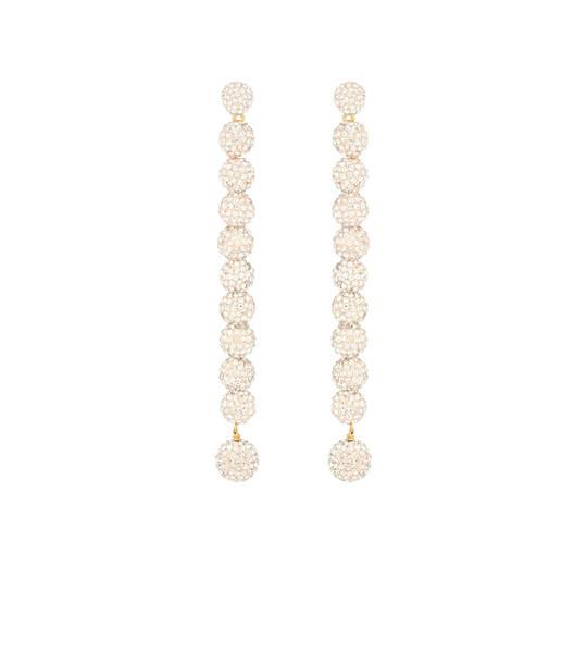 Lele Sadoughi Caterpillar crystal-embellished earrings in gold