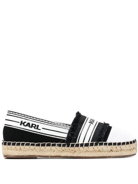 Karl Lagerfeld black knit espadrilles