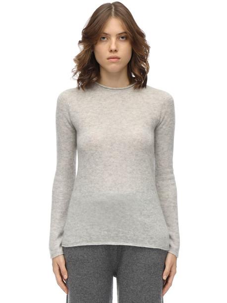 AGNONA Cashmere & Silk Knit Sweater in grey
