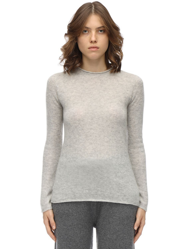 AGNONA Cashmere & Silk Knit Sweater in grey