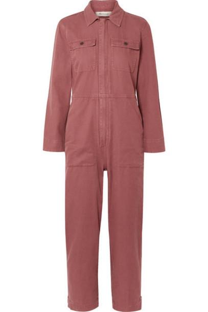 Madewell - Holiday Denim Jumpsuit - Brick