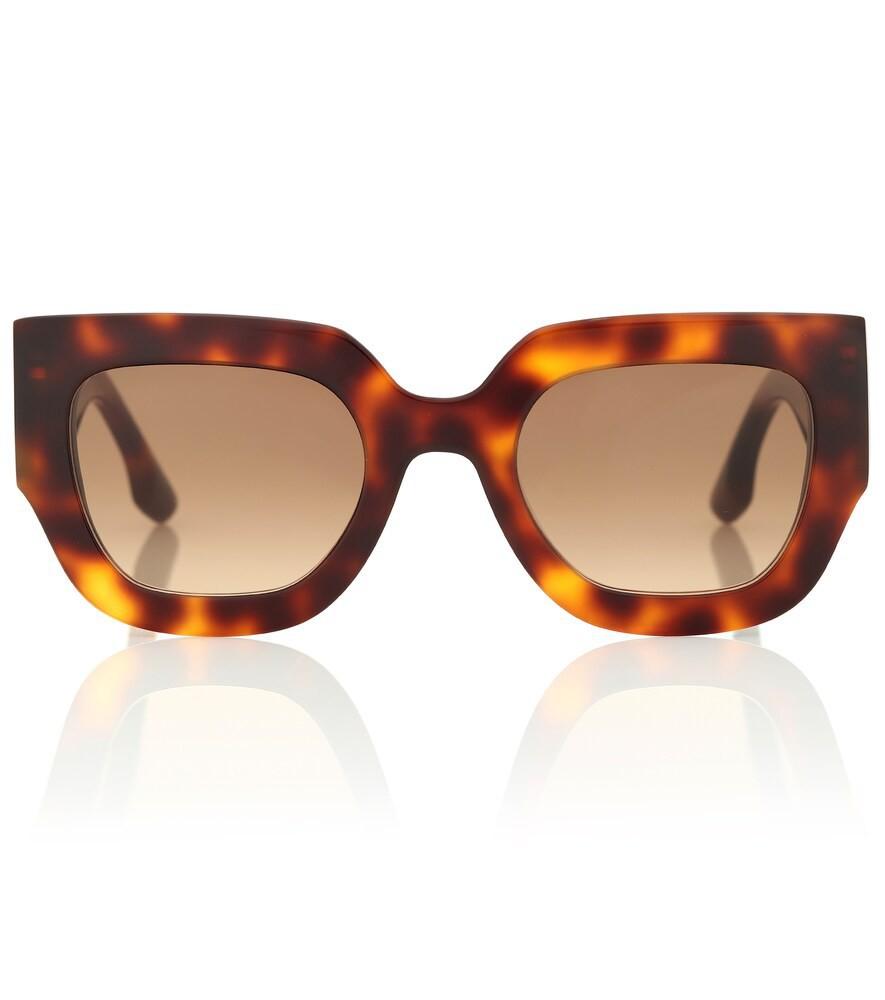 Victoria Beckham Wide Flat Square sunglasses in brown