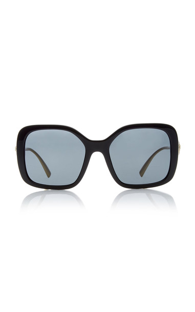 Versace Vintage Logo Square-Frame Acetate Sunglasses in black