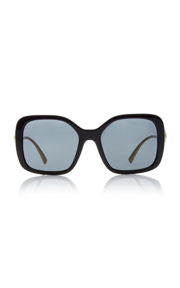 Versace Vintage Logo Square-Frame Acetate Sunglasses in black