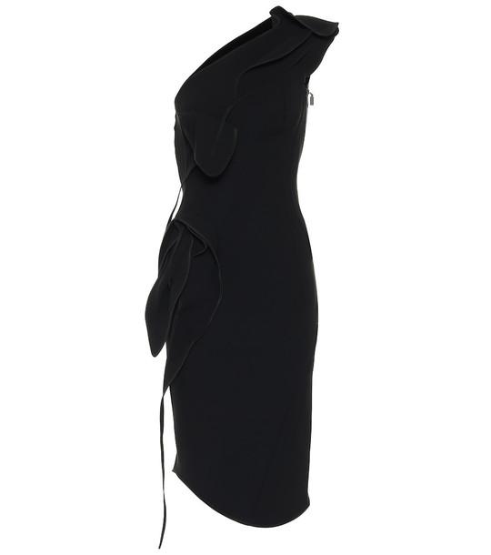 Maticevski Fervent Petal crêpe midi dress in black
