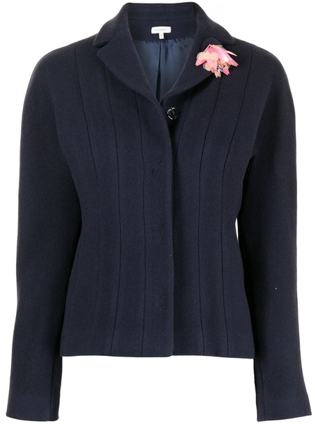 Delpozo panelled fitted jacket in blue