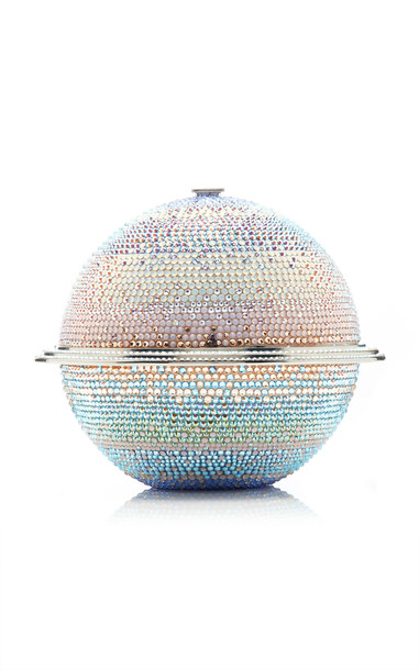 Judith Leiber Couture Saturn Sphere Crystal Clutch in multi