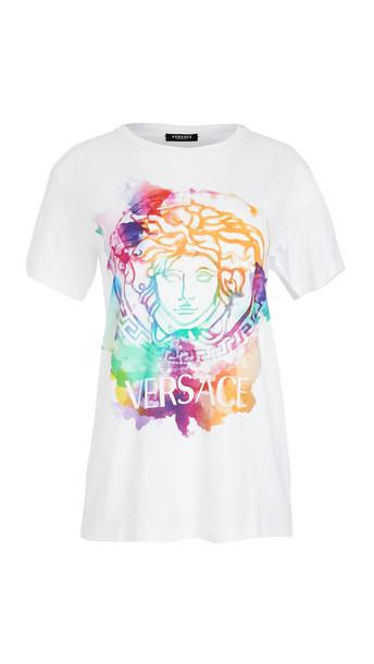 Versace T-Shirt Donna Bio in bianco