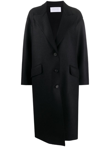 Harris Wharf London single-breasted wool coat in black