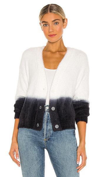 Bella Dahl Sweater Cardigan in White in black
