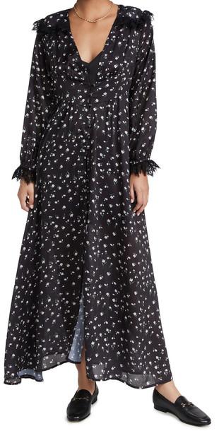 Sister Jane Familiar Floral Maxi Dress in black