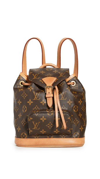 What Goes Around Comes Around LV Monogram Montsouris Backpack in brown