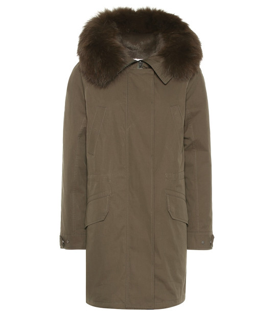 Yves Salomon - Army Fur-trimmed parka in green