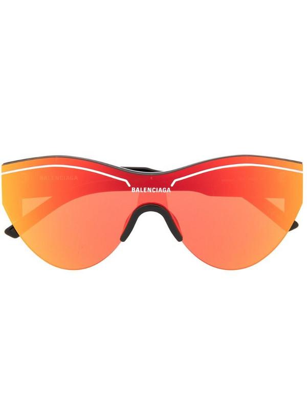 Balenciaga Eyewear Ski Cat sunglasses in orange