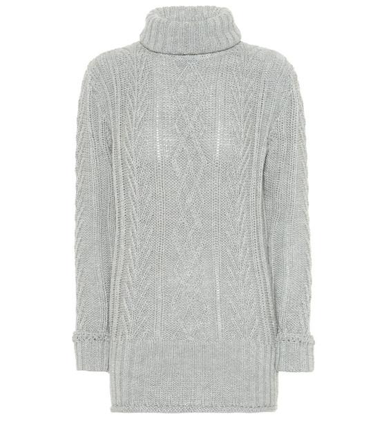 Thom Browne Wool turtleneck sweater in grey