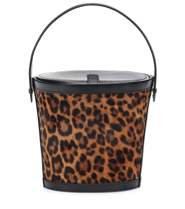 Hunting Season The Bucket Small leather tote in black