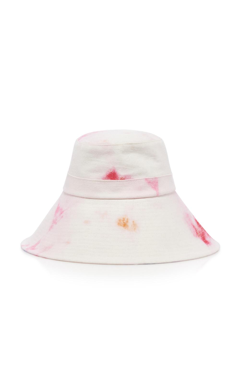 Isabel Marant Noliae Tie-Dye Cotton Bucket Hat Size: 57 in pink