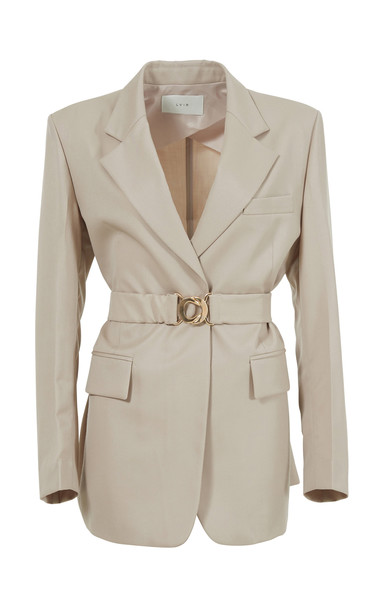 LVIR Summer Wool Tailored Jacket Size: L in neutral