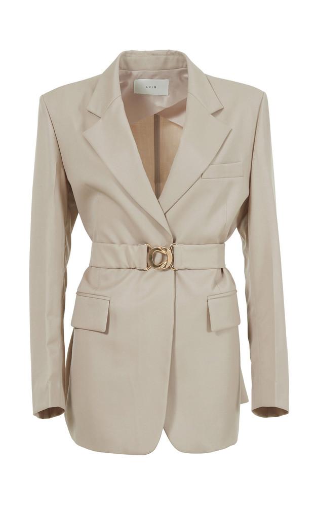 LVIR Summer Wool Tailored Jacket Size: L in neutral