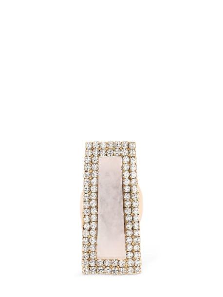 ROSANTICA Incantesimo Stone & Crystal Ring in pink