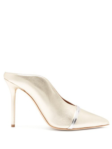 Malone Souliers - Constance Leather Mules - Womens - Gold