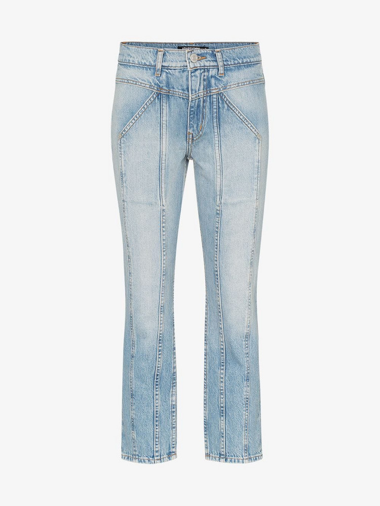 Adaptation Rider cropped skinny jeans in blue
