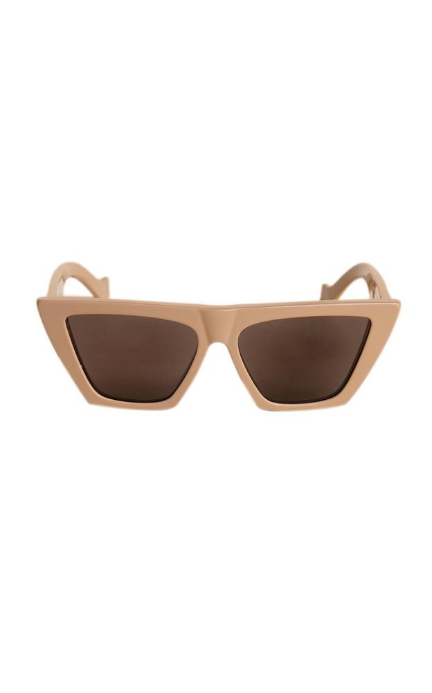 TOL Eyewear Trapezium Cat-Eye Acetate Sunglasses in neutral