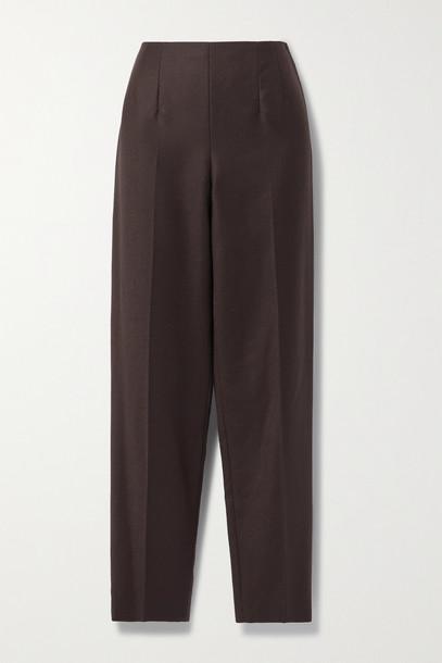 The Row - Tezza Twill Straight-leg Pants - Brown