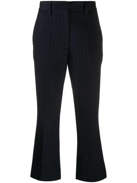 Barena striped flared-leg trousers in blue