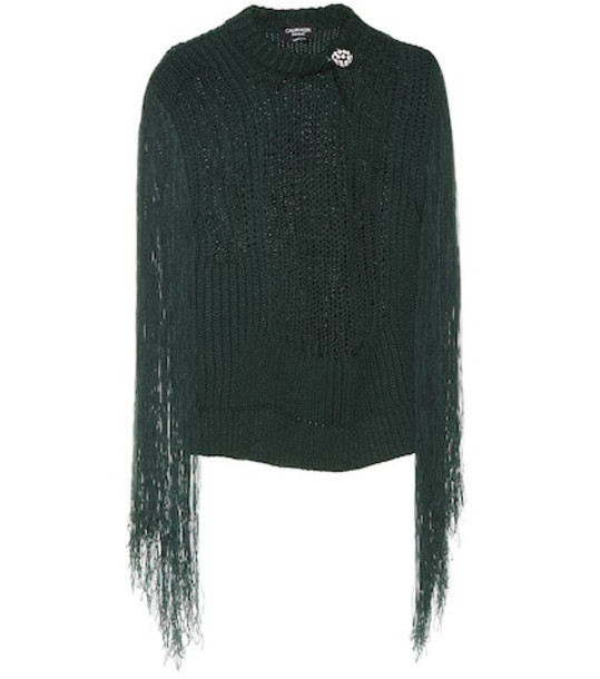 Calvin Klein 205W39NYC Fringed sweater in green