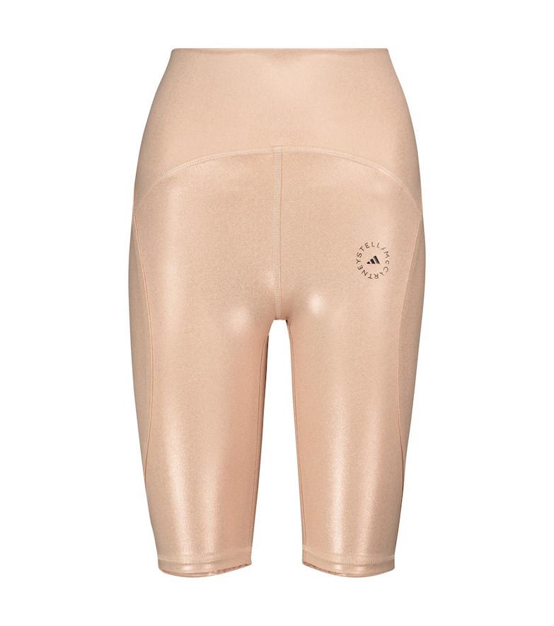 adidas by Stella McCartney Shine compression shorts in pink