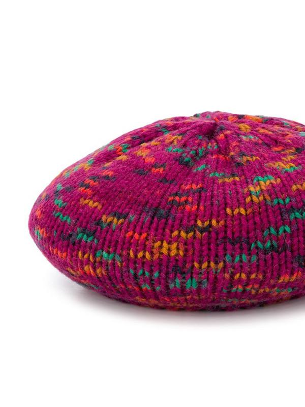 M Missoni wool-knit beret in purple