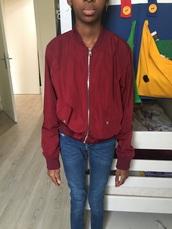 jacket,bershka,burgundy