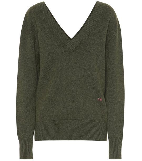 Victoria Beckham Cashmere sweater in green
