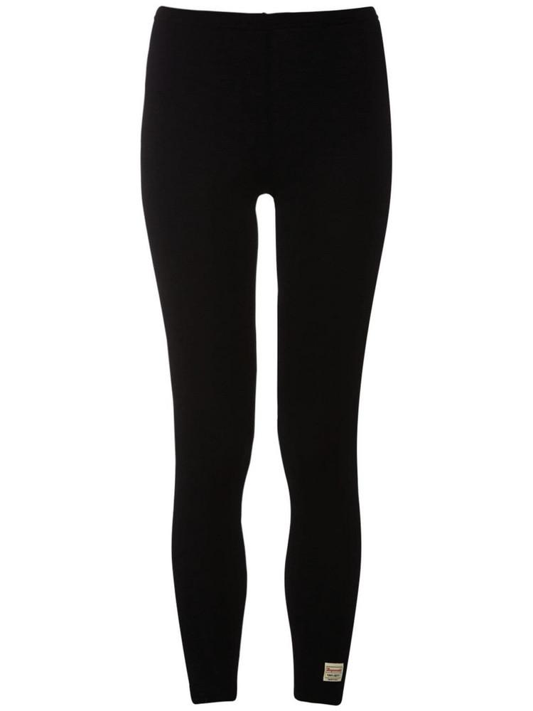 DSQUARED2 Wool Blend Jersey Leggings in black