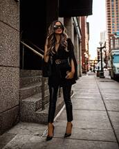 jacket,blazer,pumps,leather pants,gucci bag,black bag,gucci belt,elegant